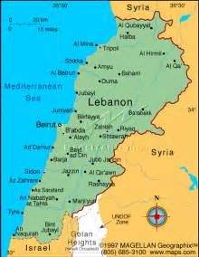 World Map Lebanon by Indigenous Signs Lebanon