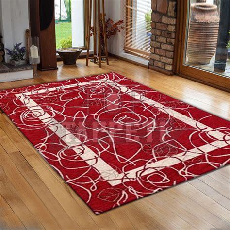 tappeto moderno rosso volant tappeto moderno ciniglia jacquard petali rosso