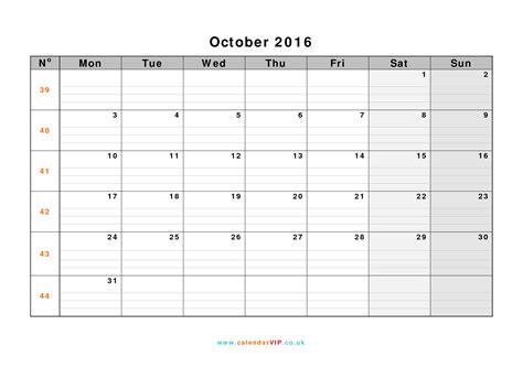Oktober Kalender 2016 October 2016 Calendar Free Monthly Calendar Templates For Uk