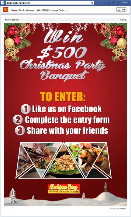 Restaurant Sweepstakes - build brand loyalty with holiday sweepstakes woobox blog