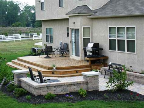 Outside Deck Ideas by Patio And Deck Combinations Columbus Decks Porches And
