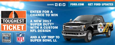 Nfl Ford Sweepstakes - nfl sponsors have started running sweepstakes for chances to win tickets to super bowl