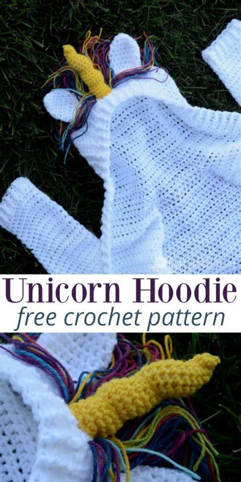 unicorn hoodie pattern child size unicorn hoodie crochet pattern size 4 5t