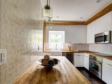 modern kitchen  butcher block countertop hgtv
