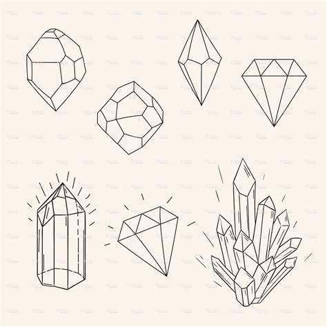 hand drawn tattoo designs set sketch and polygonal figure