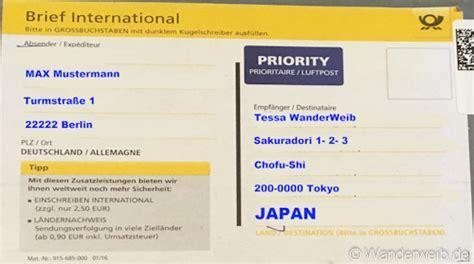brief international tipps deutsche post so verschickst du g 252 nstig deutschland nach japan wanderweib