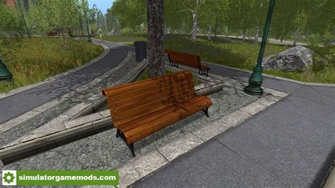 park bench game fs17 2 park benches simulator games mods download