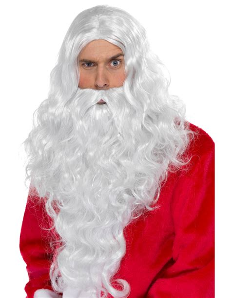 set wig and beard santa claus