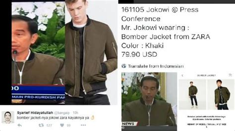 Harga Jaket Bomber Merk Zara jaket bomber jokowi lengkap