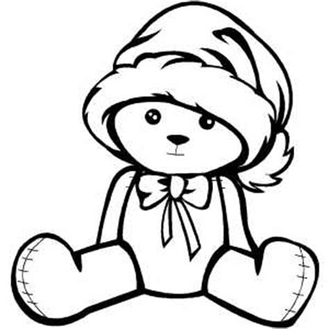 small bear coloring page small bear in hat coloring page