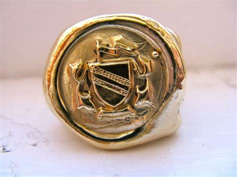 Seal Ring Handmade Wax Seal Signet Ring Made To Order By Redbud
