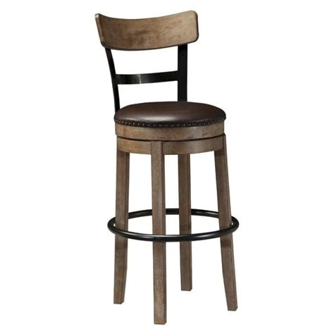 Stools Are Light Brown by Pinnadel 30 25 Quot Faux Leather Swivel Bar Stool In Light Brown D542 130