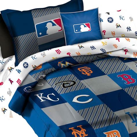 Mlb Bedding Set League Baseball Teams 5 Piece Twin Bed Baseball Bedding Set