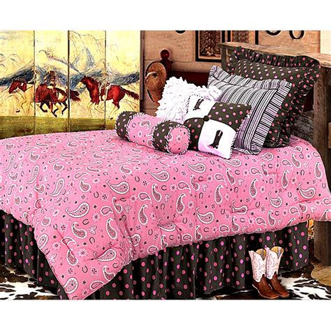 cowgirl bedroom cowgirl pink paisley bedding ensemble