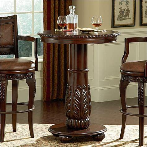 steve silver company antoinette wood top pub table cherry ayptx kit