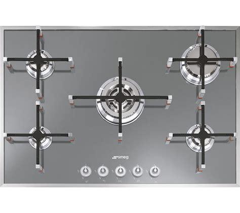 piano cottura smeg px750 buy smeg linea pvs750 gas hob silver free delivery