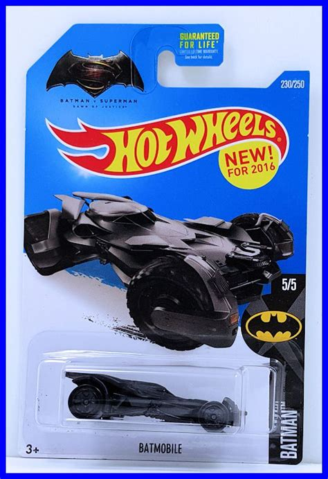 Wheels Hw Batman Vs Superman 2017 Batmobile Dc Miniature Mobil batmobile model cars hobbydb