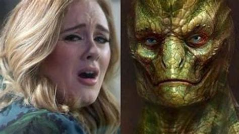 shape shifting adele caught shapeshifting into eight foot reptilian in