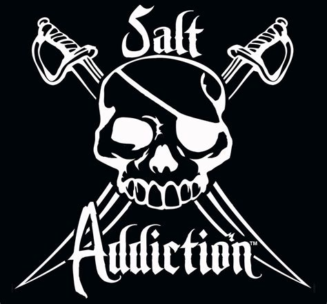 Tshirtbajukaos Salt Addiction 1 salt addiction decal flats fishing sticker rod reel offshore ebay