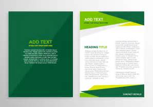 green brochure template design free vector