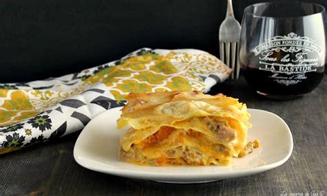 lasagne zucca e salsiccia primo piatto da forno ricetta