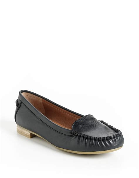 brand loafers lucky brand corral leather loafers in black black leather