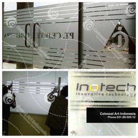 Sticker Pintu Motif Balon Udara jual kontraktor stiker kaca cutting sticker murah di