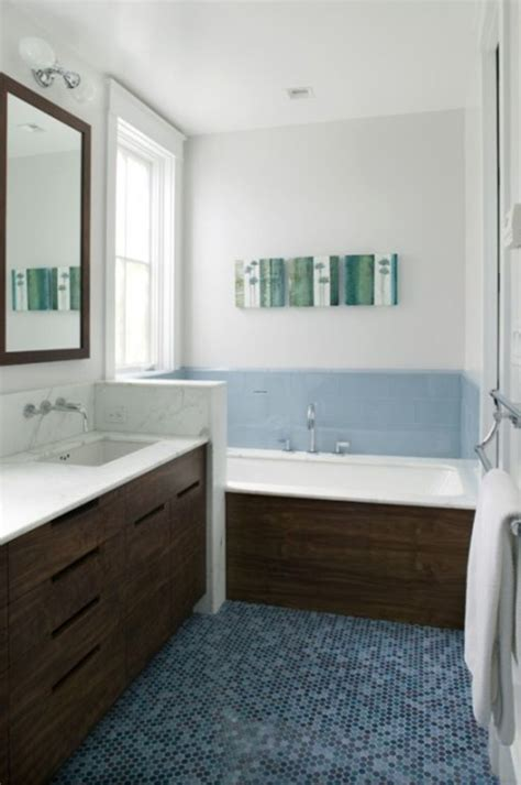 Blue Tile Bathroom Ideas Blue And Brown Bathroom Fancy White And Blue Bathroom Design Idea With Blue Flor Tile White