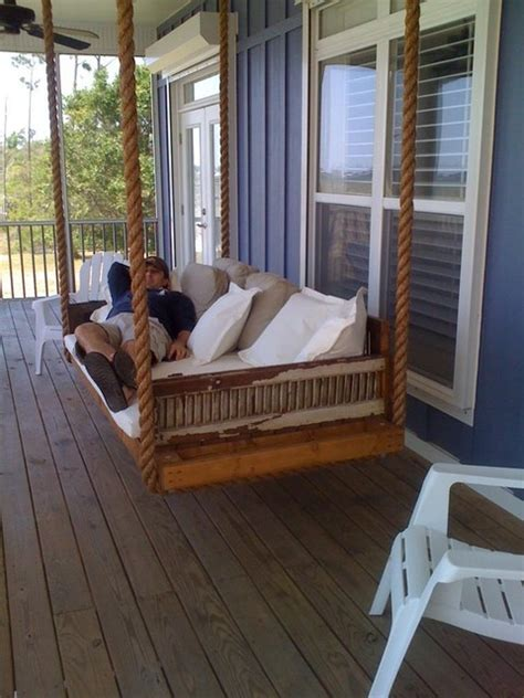 hanging porch bed hanging porch bed swing plans home design and interior