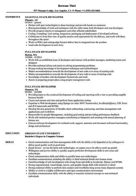 Stack Developer Resume by Stack Developer Resume Sles Velvet