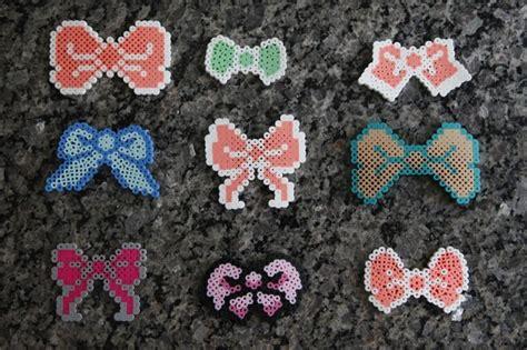 perler bead bow perler bow pins bows