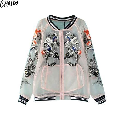 Sheer Baseball Jacket sheer organza jacket promotion shop for promotional sheer