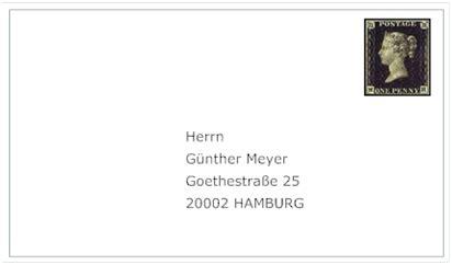 letter address format germany global sourcebook for international data management