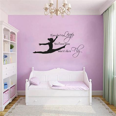 gymnastics themed bedroom gymnast gymnastic girls bedroom quote vinyl wall art