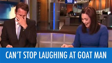 funny news reader cannot stop laughing at model falling female reporter struggles to hold composure through quot goat