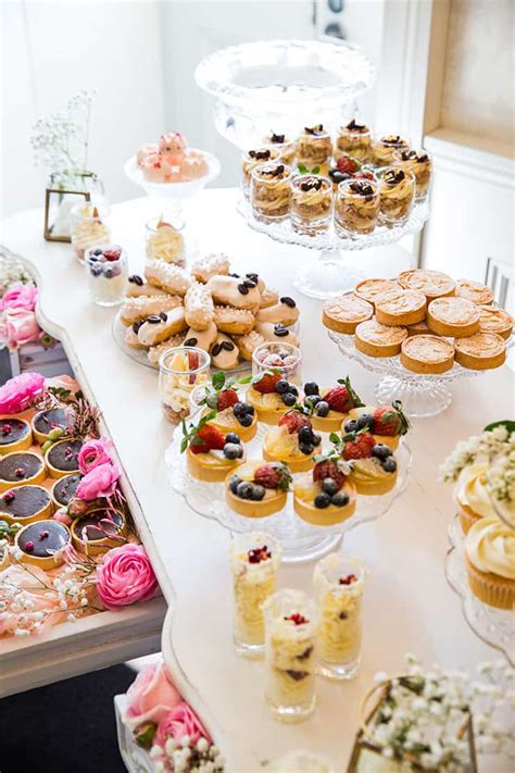 bridal shower finger food desserts how to host a beautiful bridal shower the wedding playbook