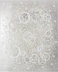 Tecture Design georgette benisty painting with lace on plexiglass prayer