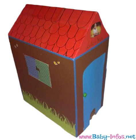 aus karton basteln kinder spielhaus basteln aus pappe anleitung mit bildern