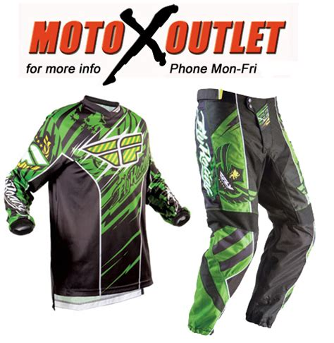 youth motocross gear package fly kids youth dirt bike gear mx bmx pant jersey green ebay