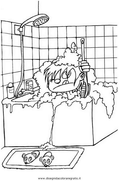 disegni bagno disegno bagno 01 da colorare
