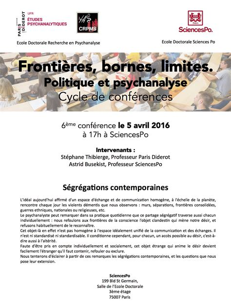 Calendrier Diderot 2016 6 232 Me Conf 233 Rence Avec Sciences Po Le 5 Avril 2016 Ufr D