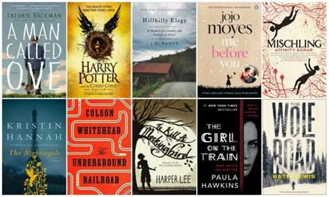 best selling fiction book 50 best selling fiction books of 2016