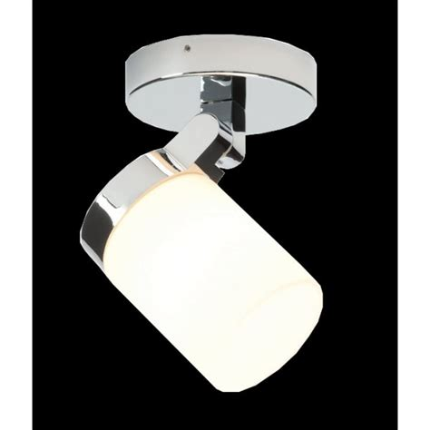 Modern Bathroom Spot Light In Chrome With White Glass Bathroom Spot Lighting