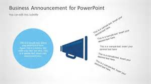 Business Announcements Templates business announcement template for powerpoint slidemodel