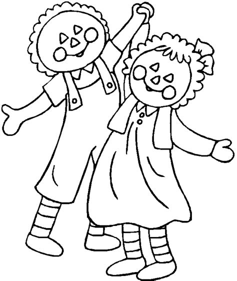 Raggedy Anne And Andy Az Coloring Pages Raggedy And Andy Coloring Pages