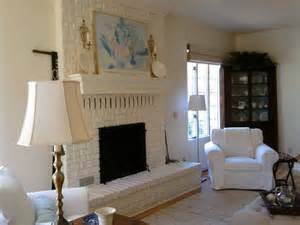 white painted brick fireplace a b i d e