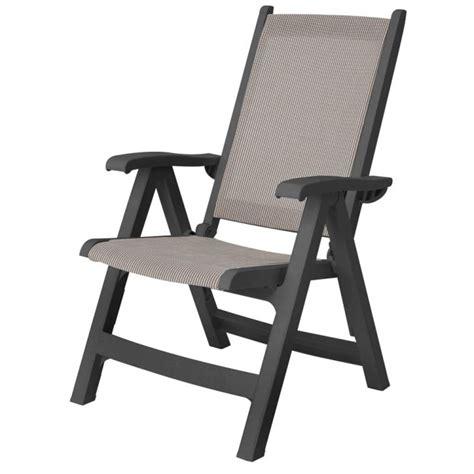 grosfillex sedie poltrona bali antracite con schienale alto regolabile