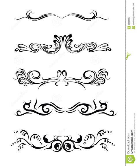 different design styles lines design elements of different styles stock images