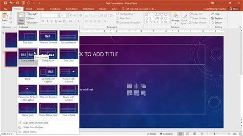 slide layouts in powerpoint tutorial teachucomp inc insert a new slide in powerpoint instructions
