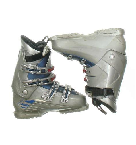ski boot size salomon performa 660 gray blue used ski boot s size